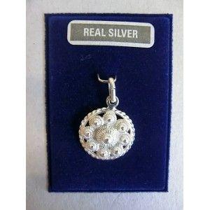 Zilver Goesse Knoop 16mm