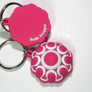 Sleutelhanger rubber Zeeuwse Knoop roze