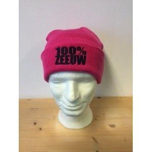 """Muts """"100% Zeeuw"""" roze"""