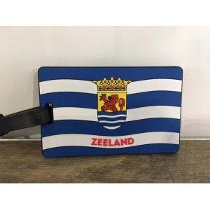 Bagage / koffer label Zeeuwse vlag