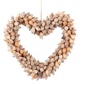 Schelpen decoratie hart Urceus 25 cm