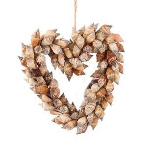 Schelpen decoratie hart Urceus 15 cm