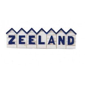 Magneet polystone strandhuisjes Zeeland