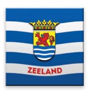 Magneet hout Zeeuwse vlag