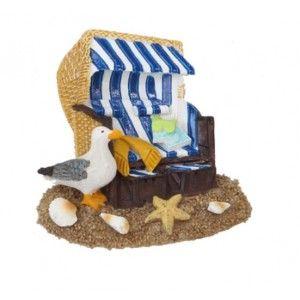 Magneet meeuw bij strandstoel