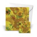 Giftcard Van Gogh Sunflowers magneet acryl