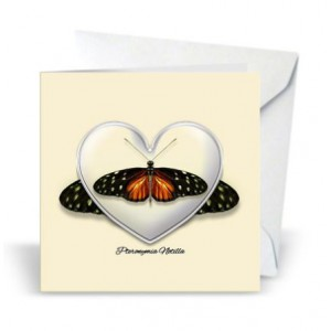 Giftcard Brown Butterfly magneet acryl