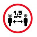 Sticker 1,5m afstand