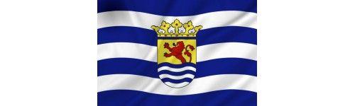 met de Zeeuwse vlag